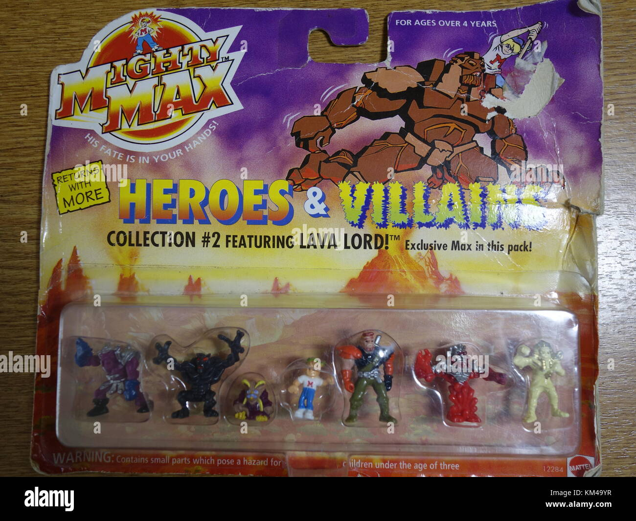 Mighty Max heroes and villains vintage figure pack by bluebird - Stock Image