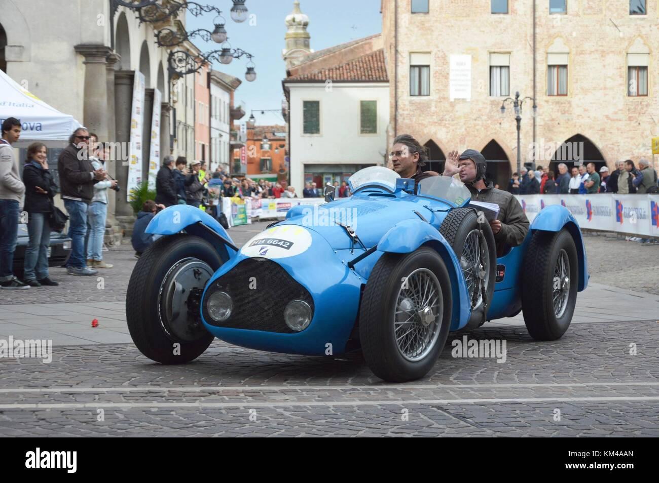 1000 Miles, may 16 2014, Este - Italy: Talbot Lago T 150 C, 1936 - Stock Image