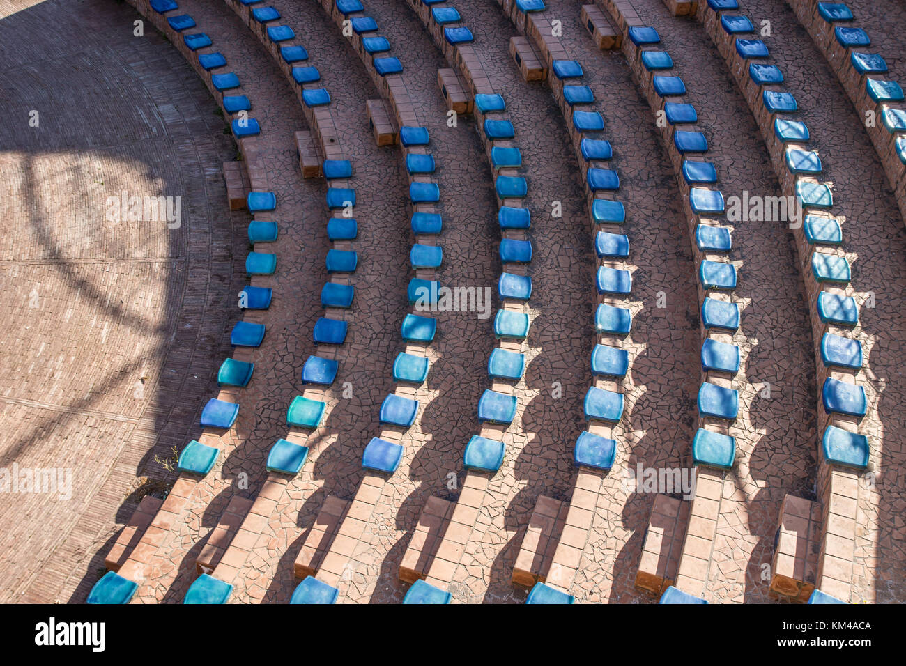 Vietri sul mare in Amalfi coast, public theatre arena, seats constructed entirely of ceramic, italy Stock Photo