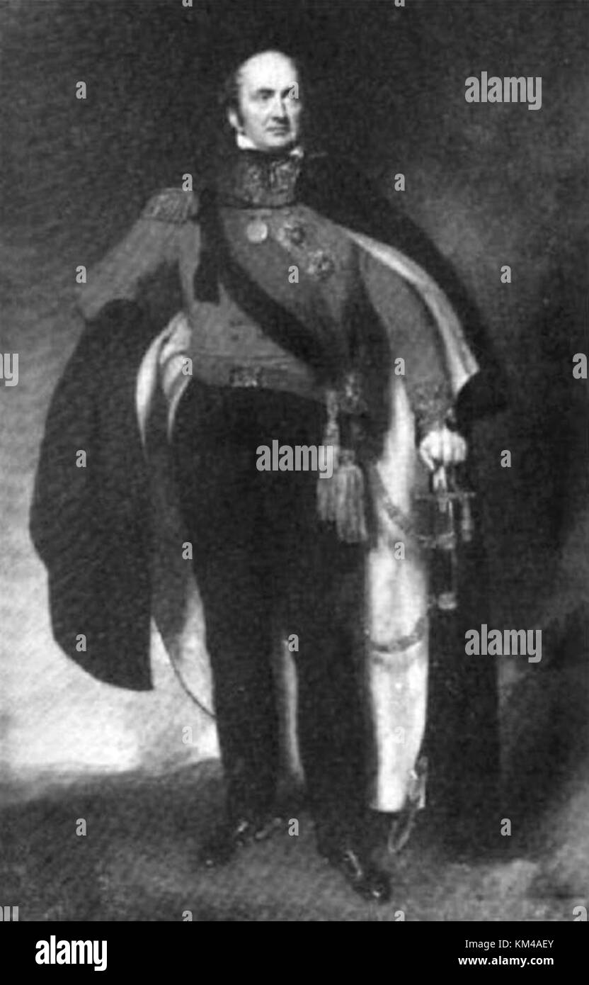 John Malcolm, Major-general Sir John Malcolm, Scottish soldier and East India Company administrator - Stock Image