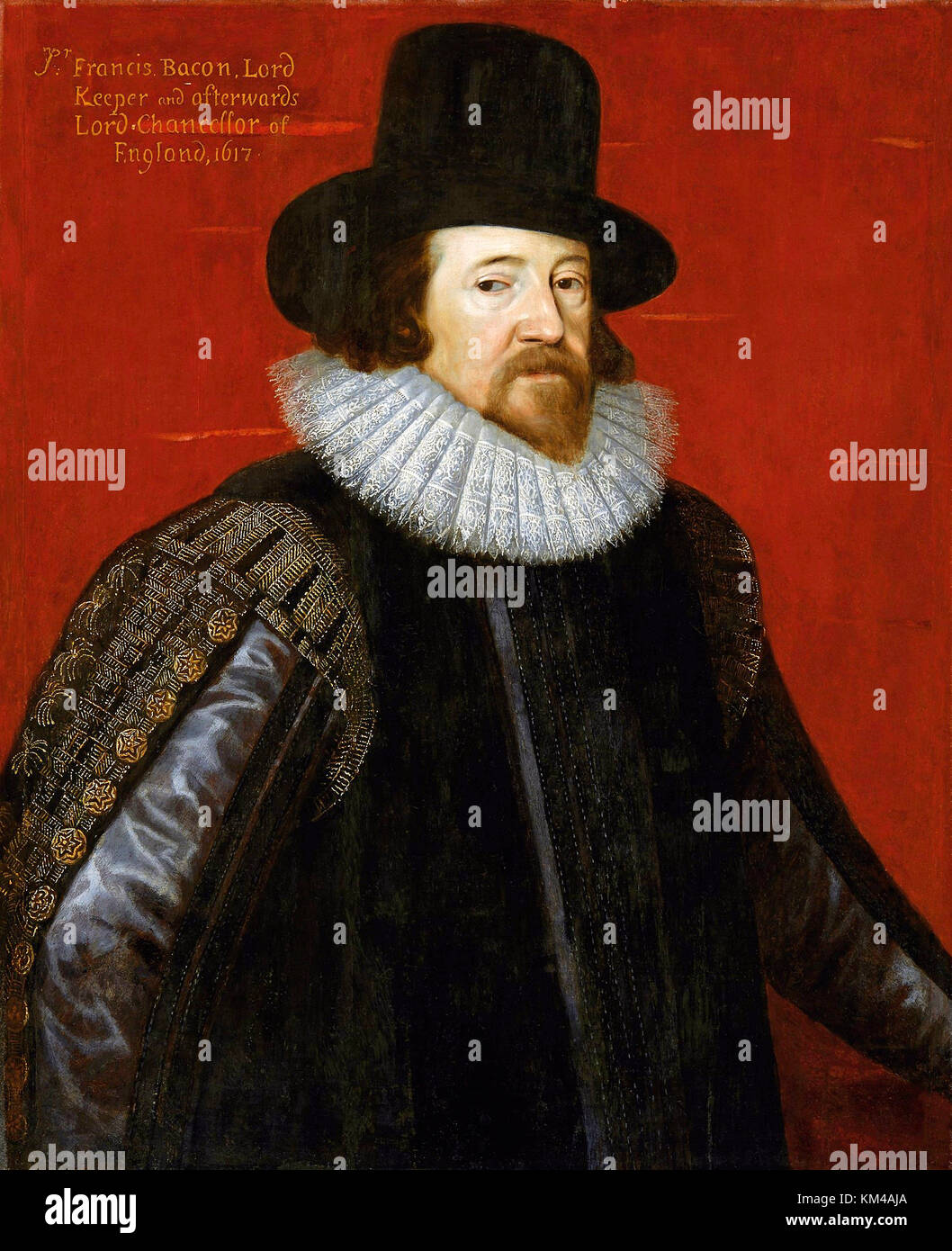 Francis Bacon, 1st Viscount St Alban, English philosopher, statesman, scientist and author - Stock Image
