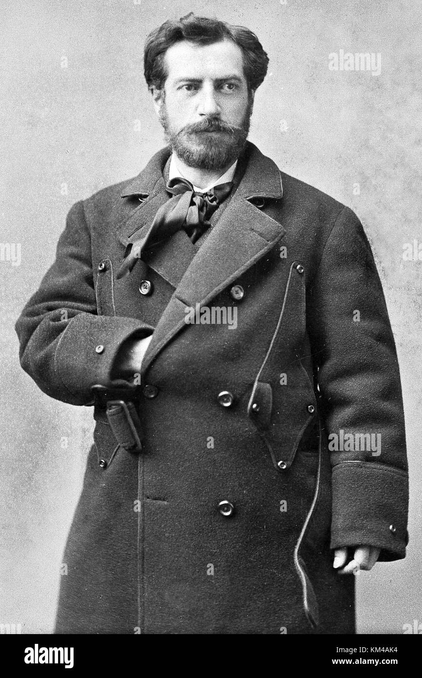 Frédéric Auguste Bartholdi, French sculptor who designed the Statue of Liberty - Stock Image