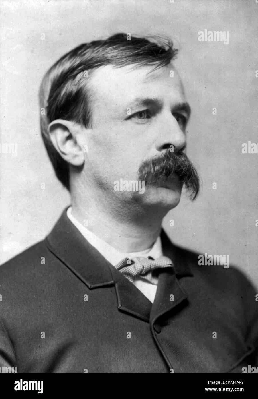 Edward Bellamy, American author - Stock Image