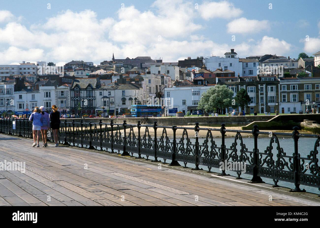 Ryde Pier, Isle of Wight, Hampshire, England - Stock Image