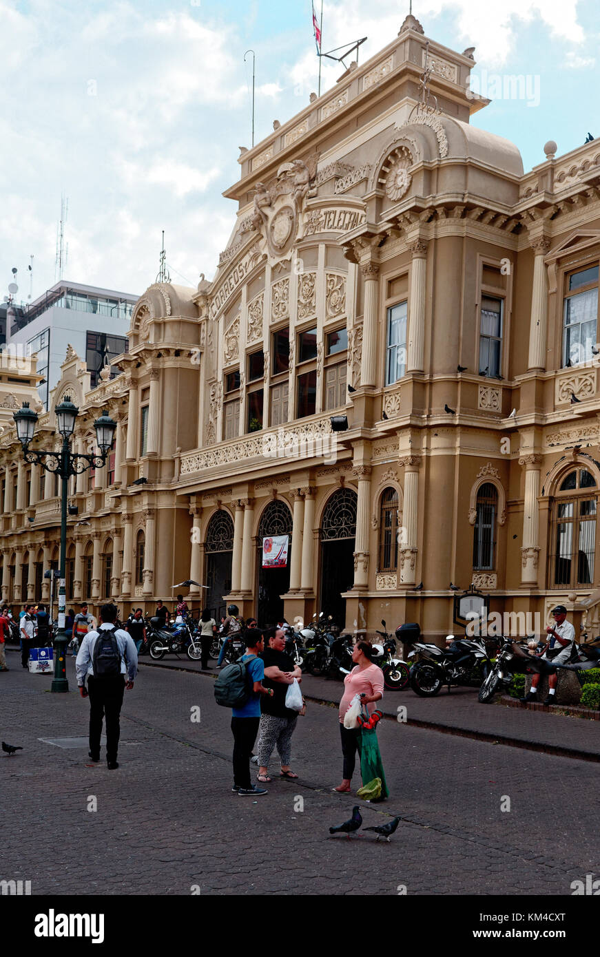 The Grand Post Office and Telegraph building in San Jose, Costa Rica - Stock Image