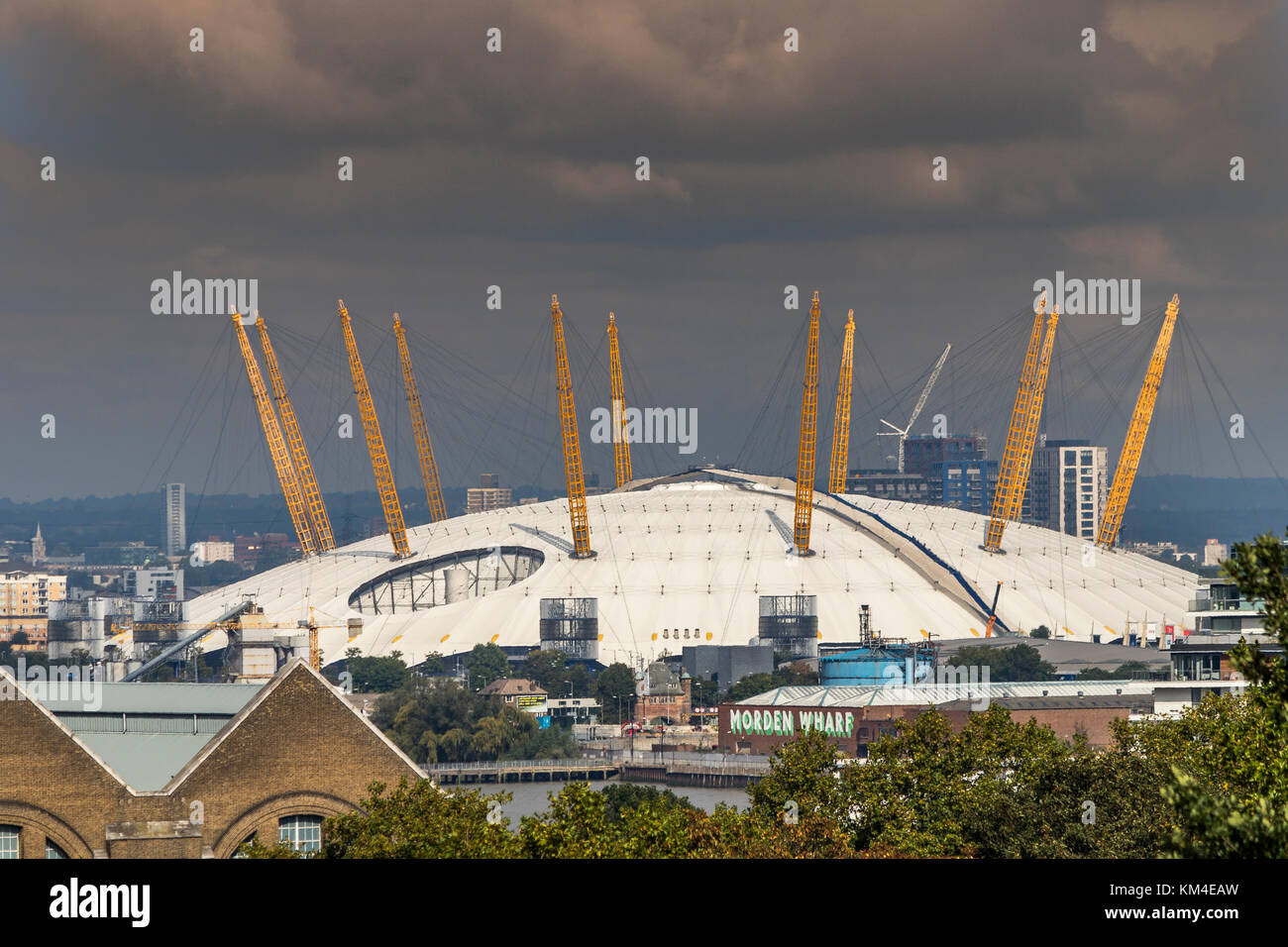 The O2 Arena , from Greenwich Park , London ,United Kingdom - Stock Image