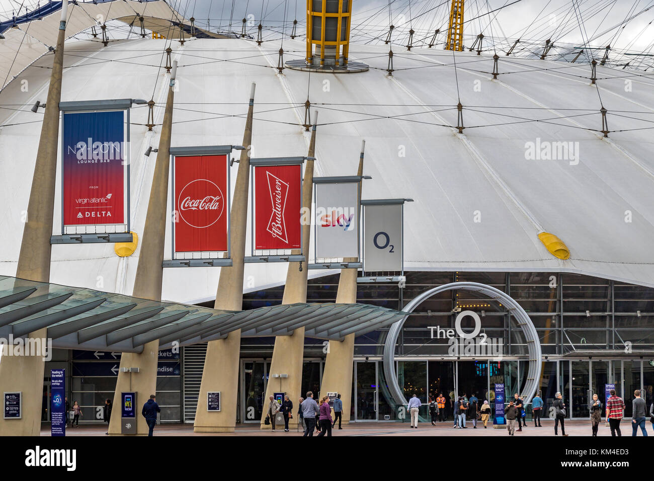 The Entrance to The O2 Arena , North Greenwich , London United Kingdom - Stock Image