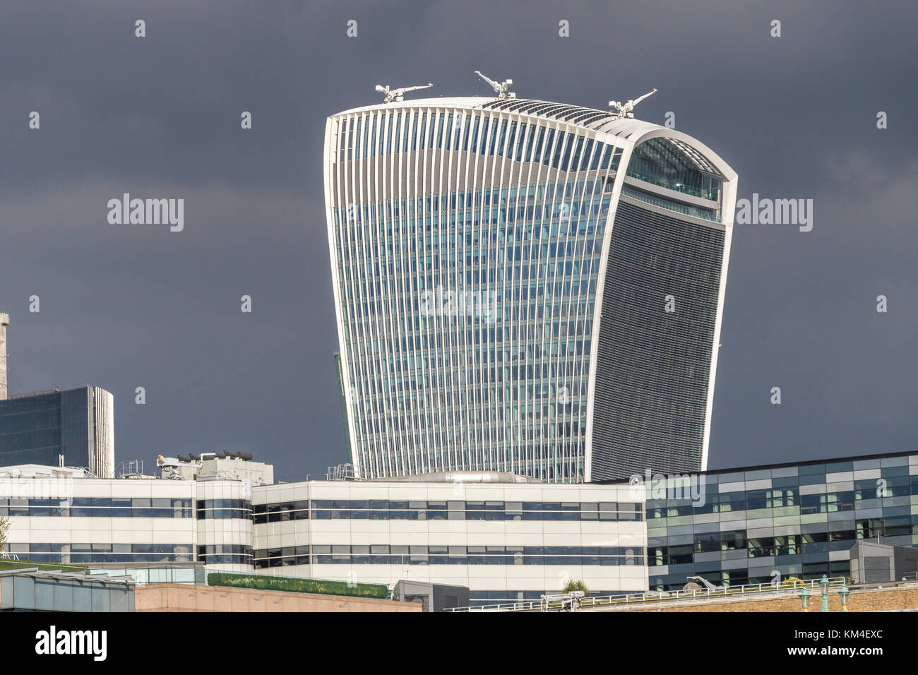 20 Fenchurch St , commonly know as The Walkie Talkie Building in The City Of London , United kingdom - Stock Image