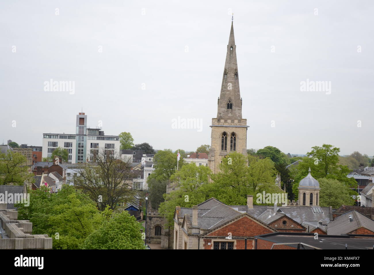 The view from a multistory car park in Bedford - Stock Image