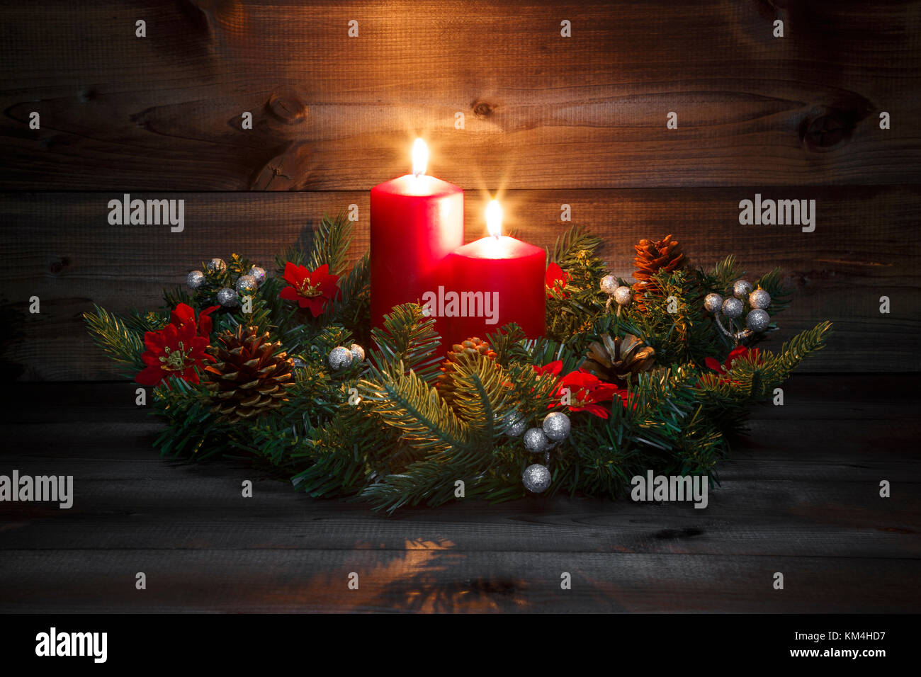 Weihnachtsbilder Zum 2 Advent.Advent Flower Arrangement Stock Photos Advent Flower Arrangement