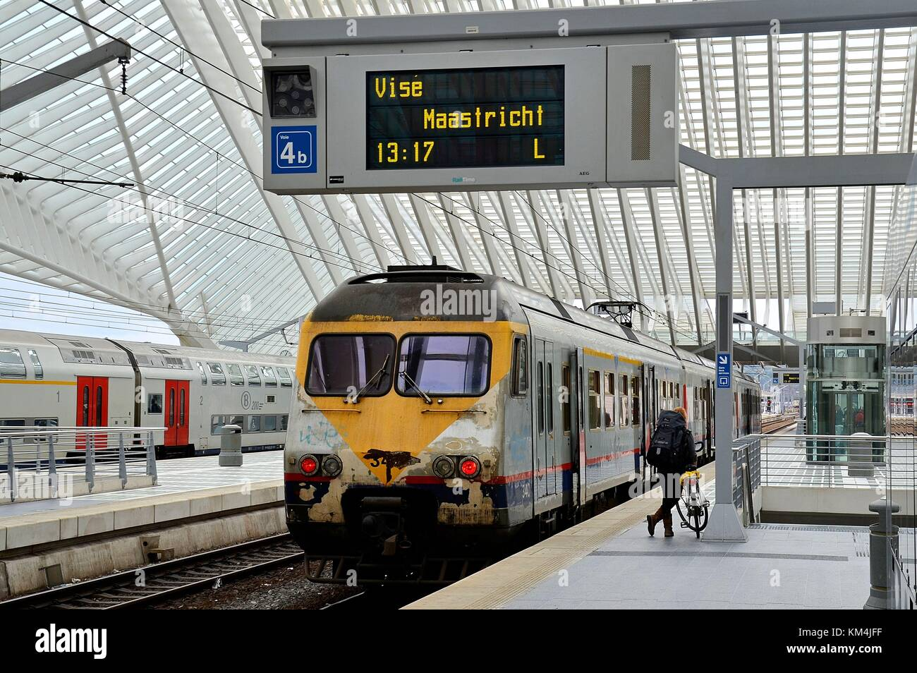 The new Railway Station of Liège (Belgium) Stock Photo