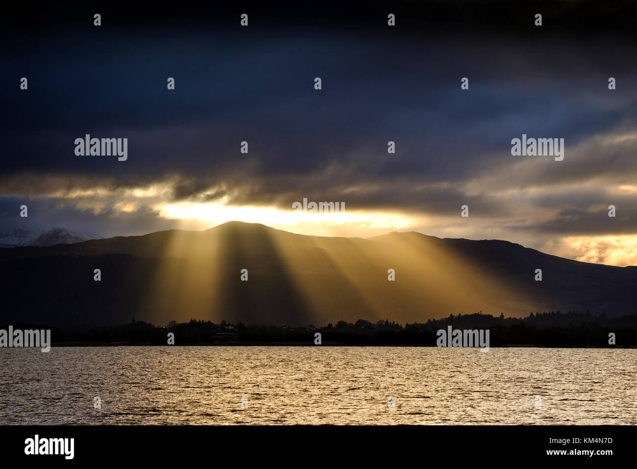 Morning light over Dodd, Bassenthwaite Lake, The Lake District, Cumbria, UK - Stock Image