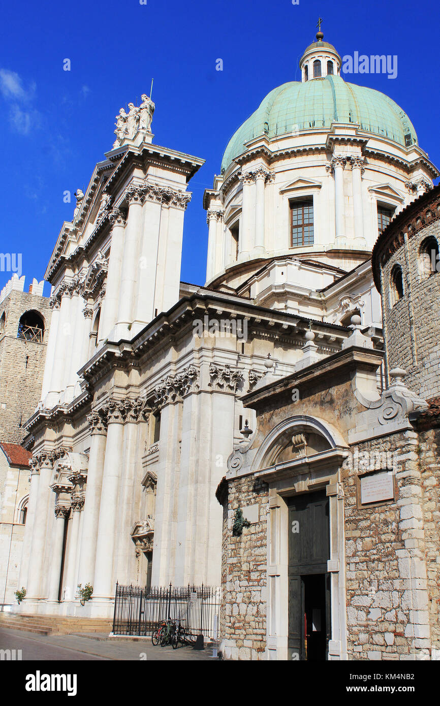 The Duomo Vecchio or Old Cathedral, Brescia, Italy. Brescia is a city located in northern of Italy near the famous - Stock Image