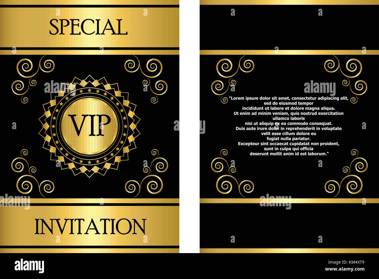 A Golden VIP invitation card template that can be used for Stock ...