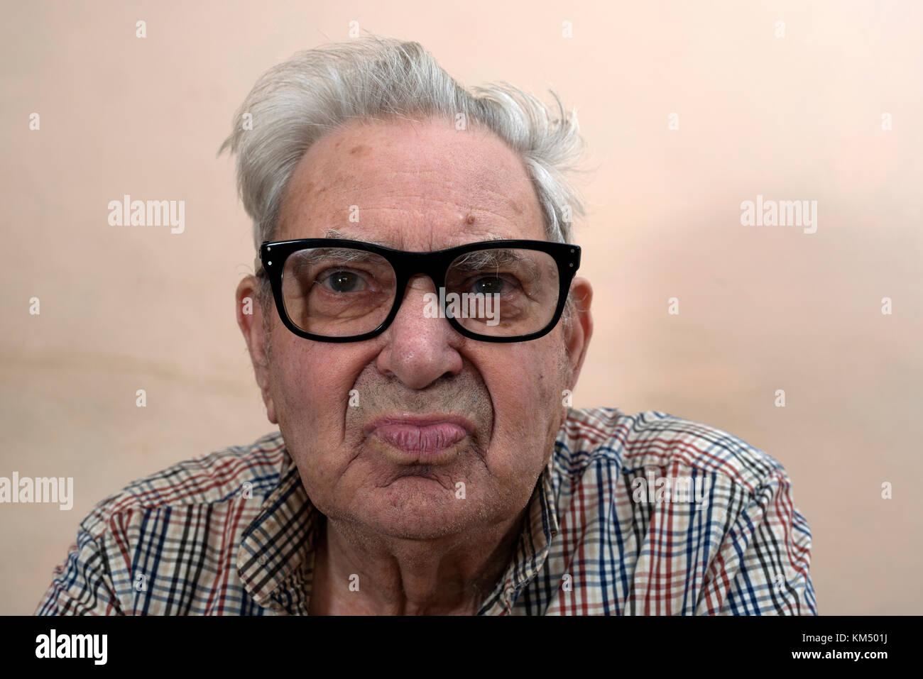 Elderly man with type 2 diabetes - Stock Image