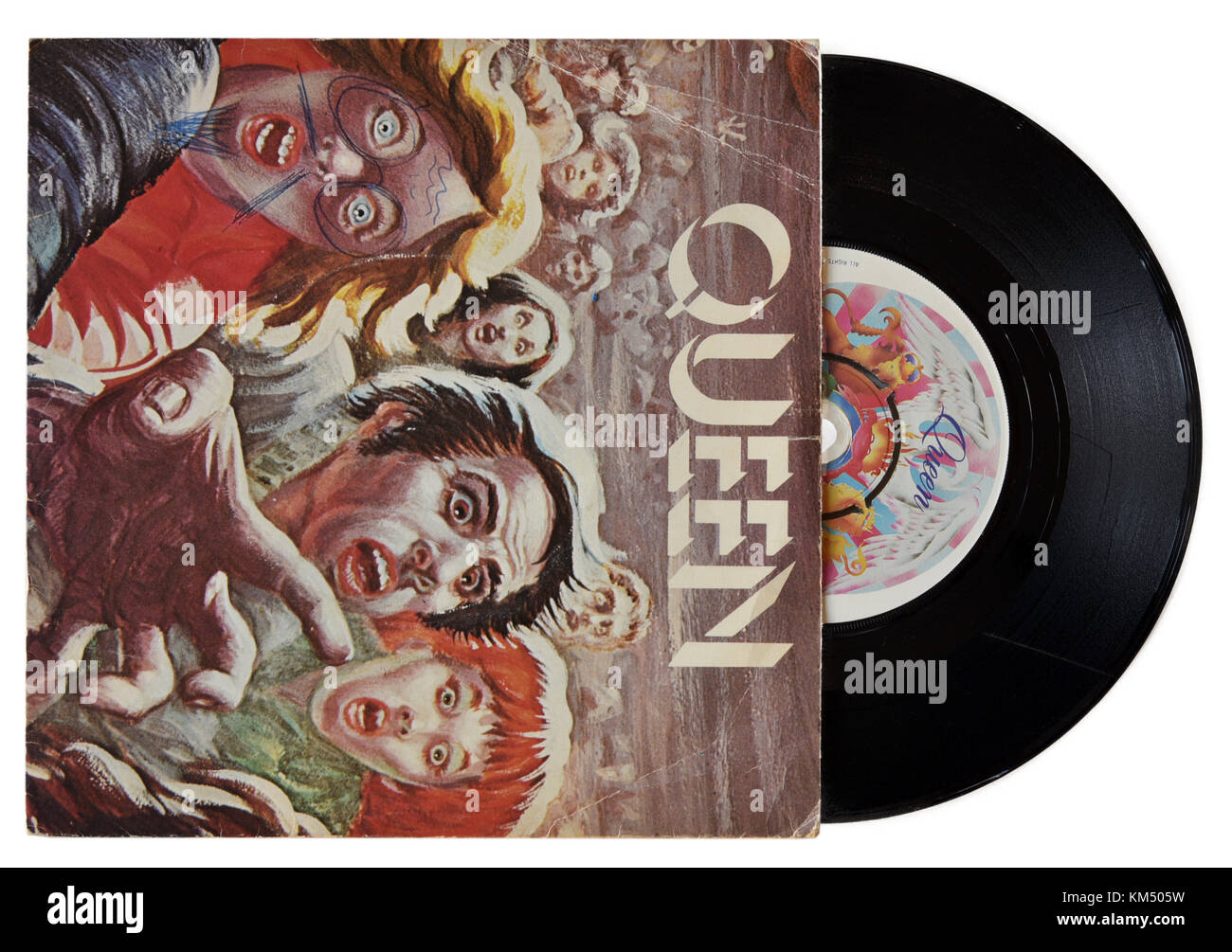 Queen Sheer Heart Attack seven inch single - Stock Image