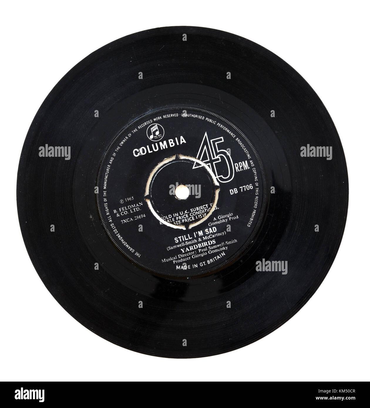 Yardbirds Still I'm Sad seven inch single - Stock Image