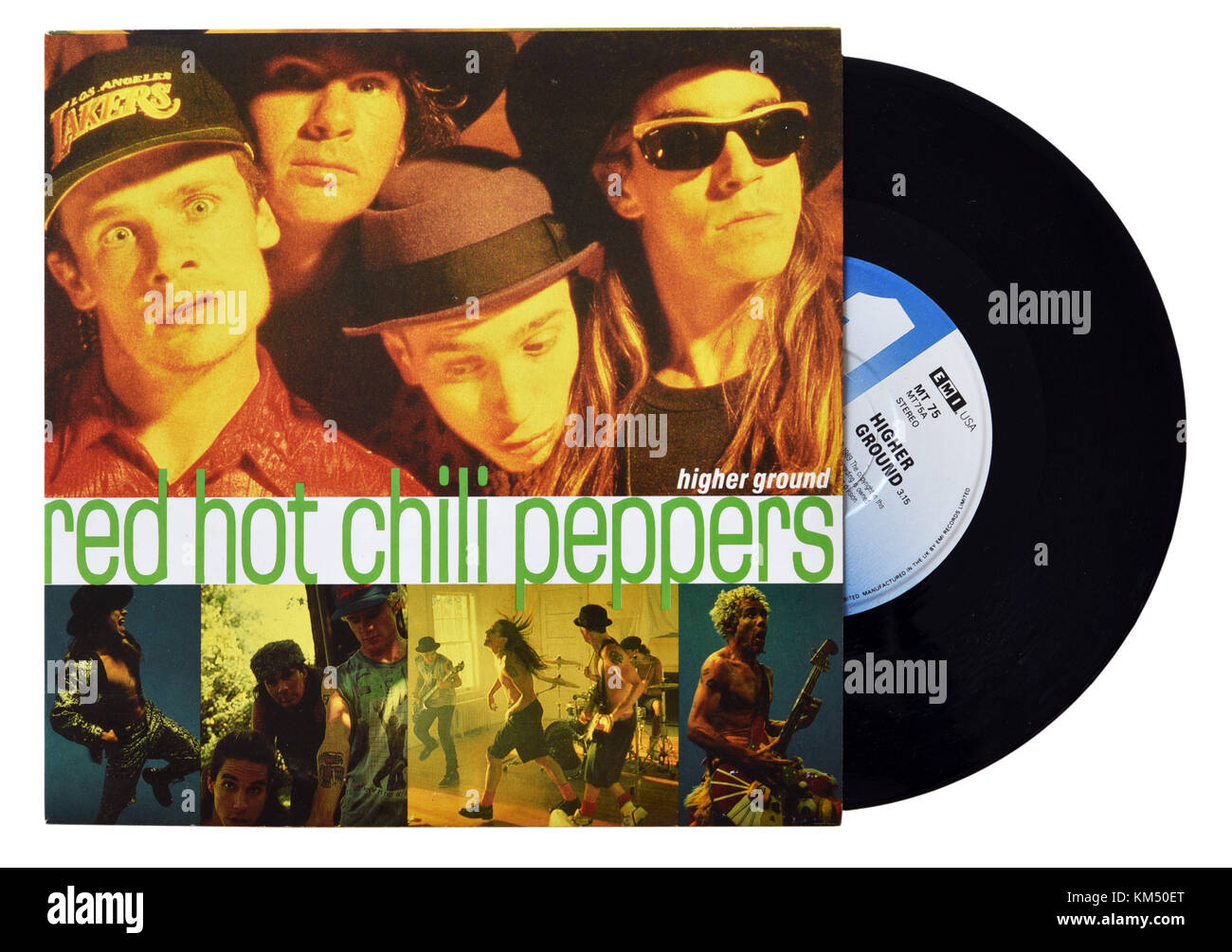 Red Hot Chili Peppers Higher Ground seven inch single - Stock Image