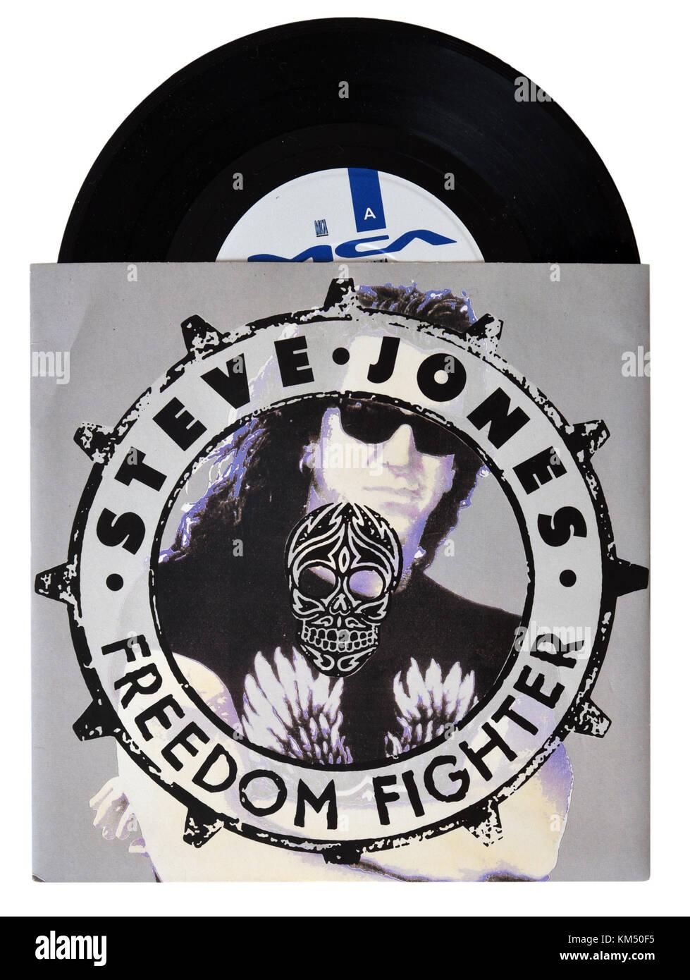 Steve Jones Freedom Fighter seven inch single - Stock Image