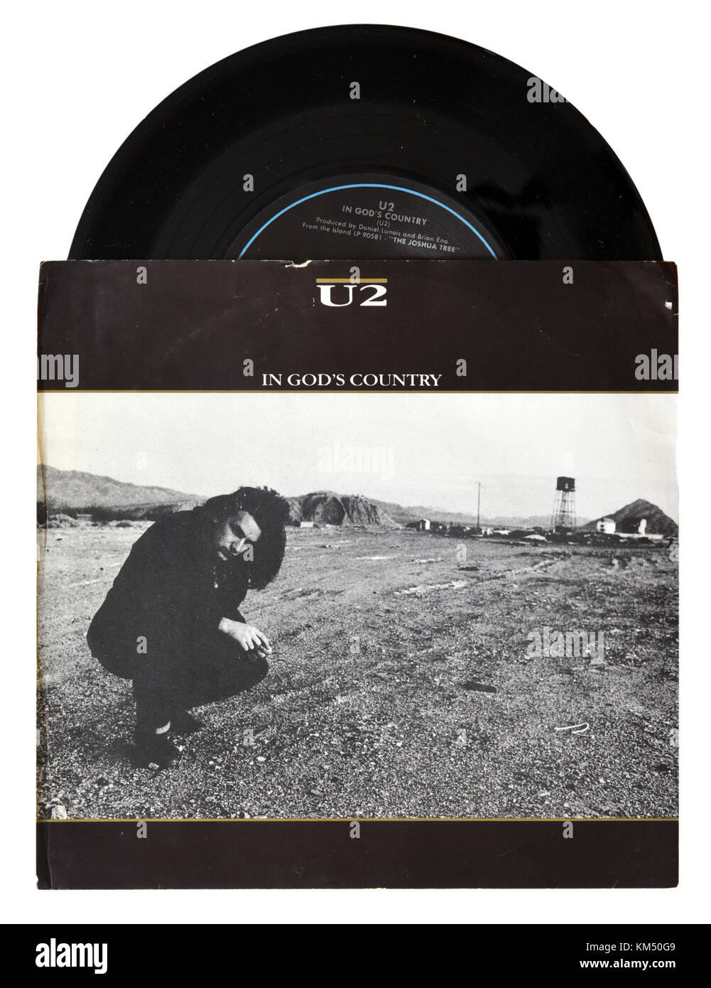 U2 In God's Country seven inch single - Stock Image