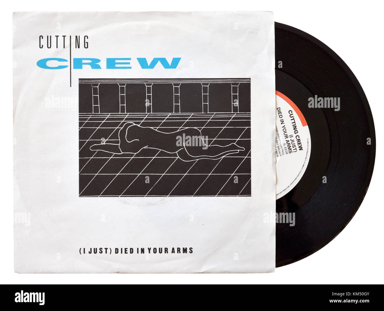 Cutting Crew I Just Died In Your Arms seven inch single - Stock Image