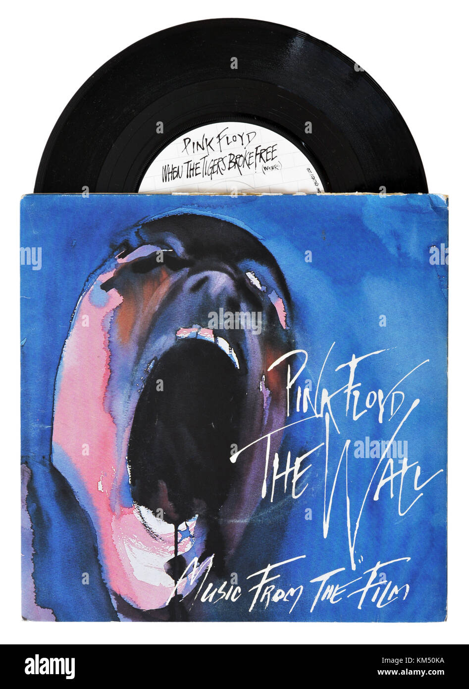 Pink Floyd When the Tigers Broke Free seven inch single - Stock Image