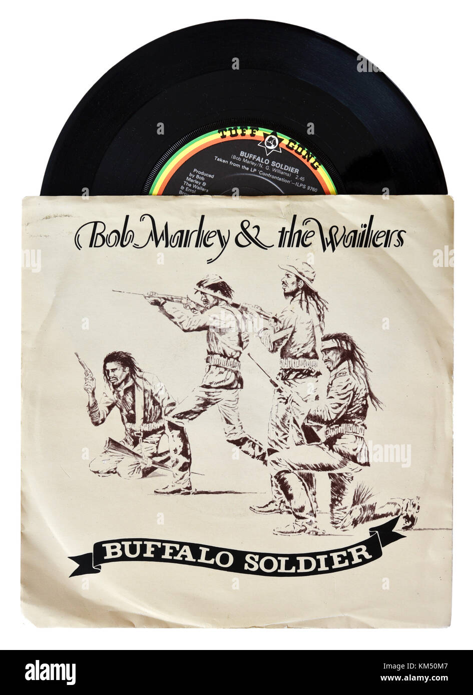 Bob Marley and the Wailers Buffalo Soldier seven inch single - Stock Image