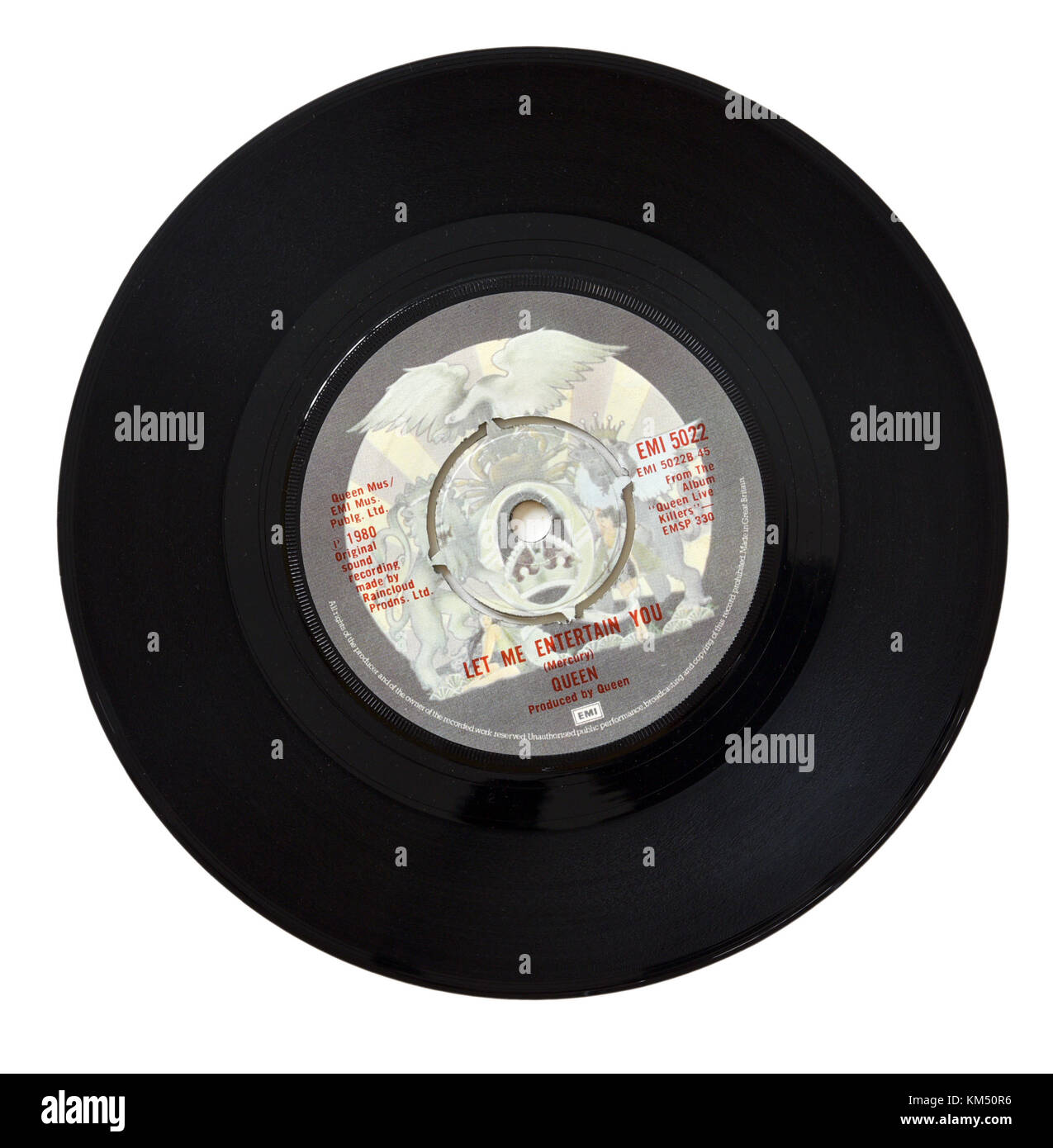 Queen Let Me Entertain You seven inch single - Stock Image