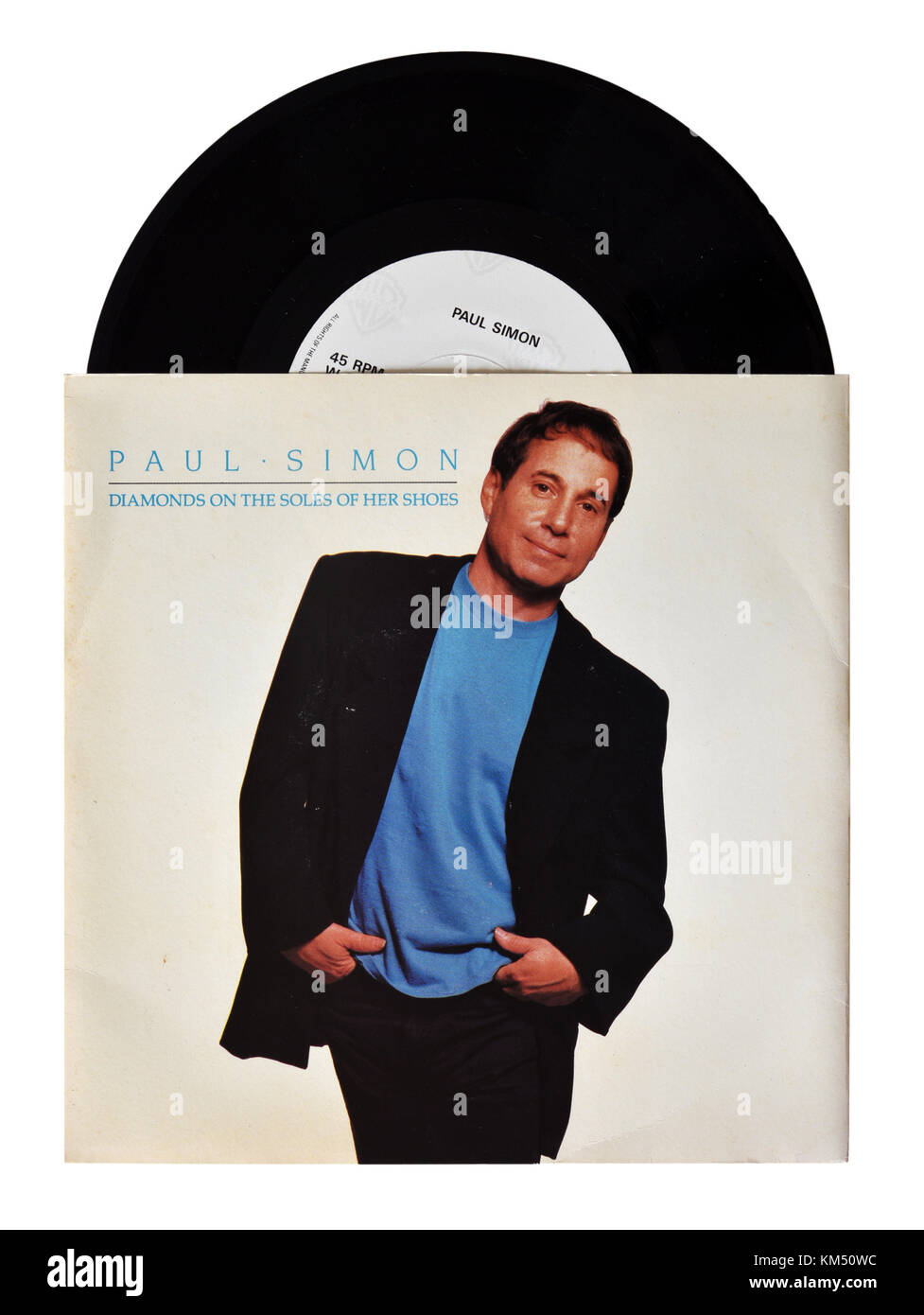 Paul Simon Diamonds on the Soles of her Shoes seven inch single - Stock Image