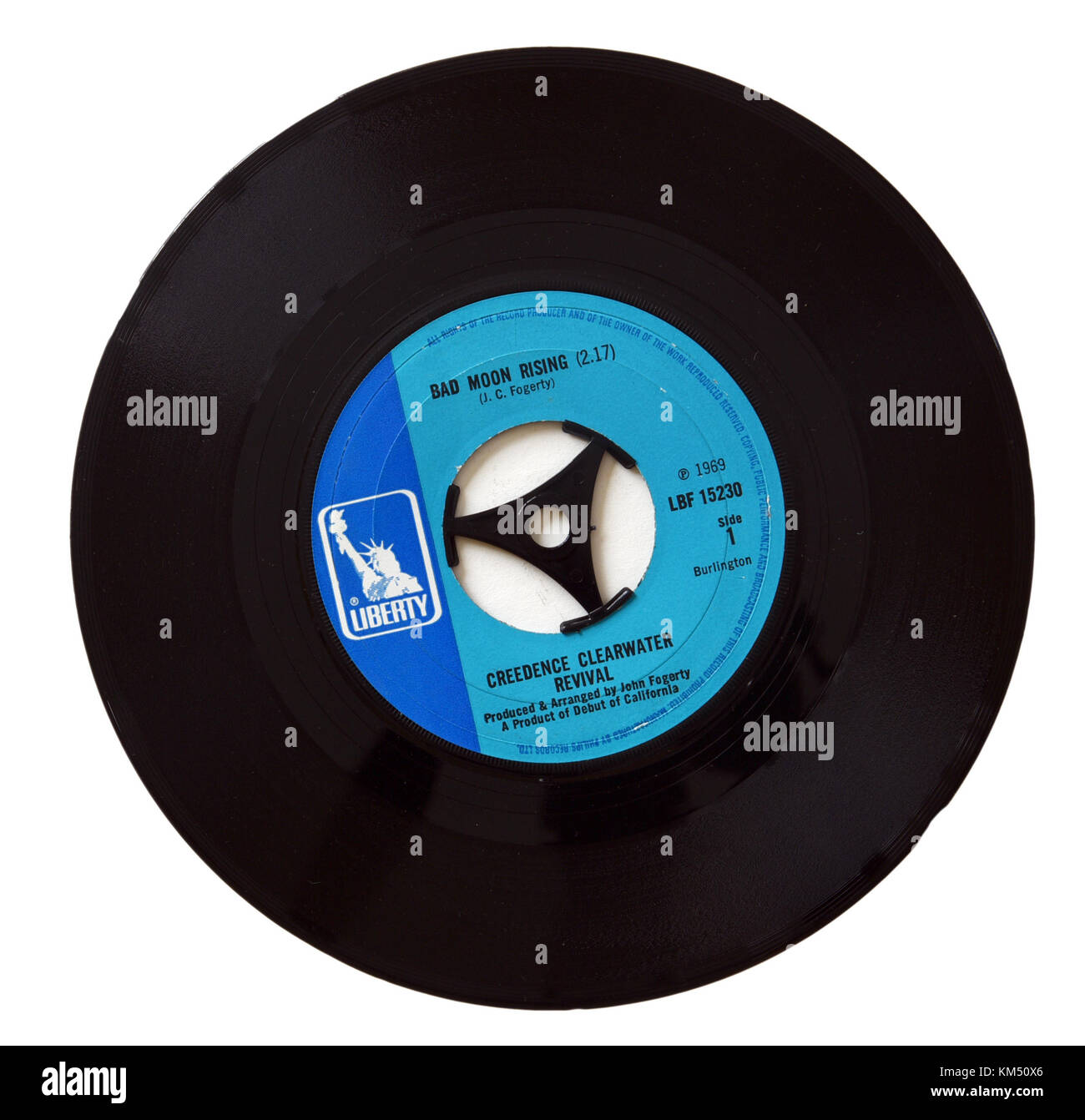 Creedence Clearwater Revival (CCR) Bad Moon Rising single - Stock Image