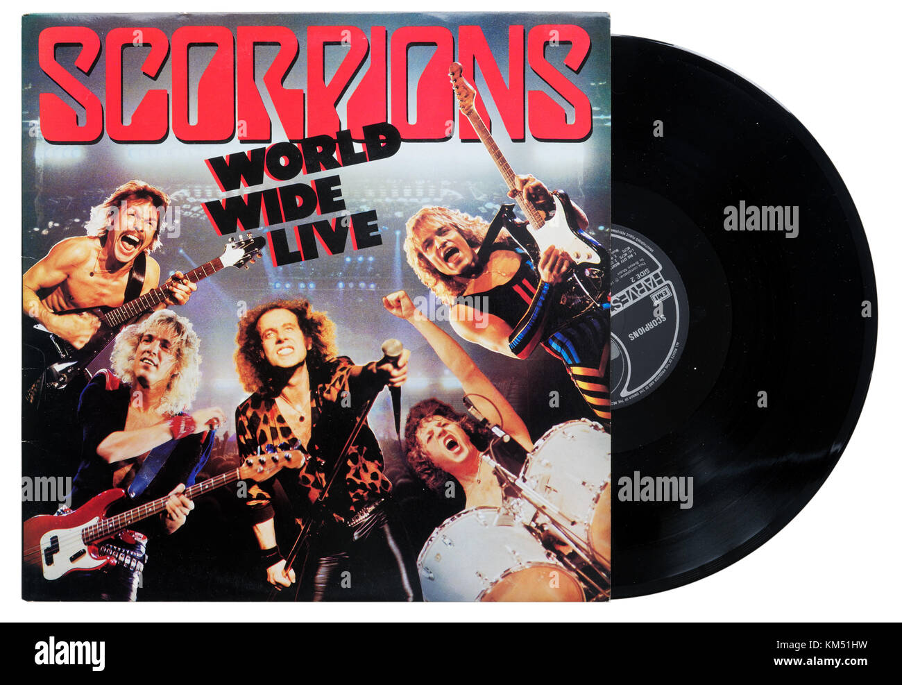 Scorpions World Wide Live album - Stock Image