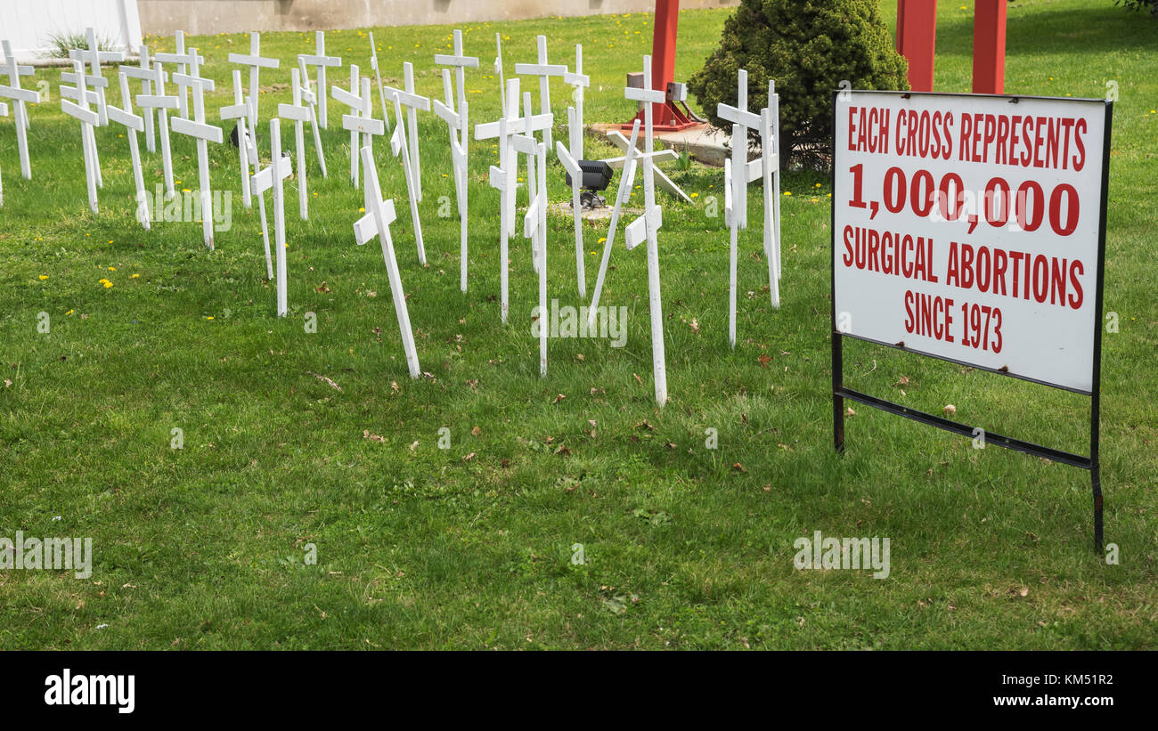 """The improvised """"cemetery"""" of the victims of abortions near St.Marta's church, Philadelphia, USA Stock Photo"""