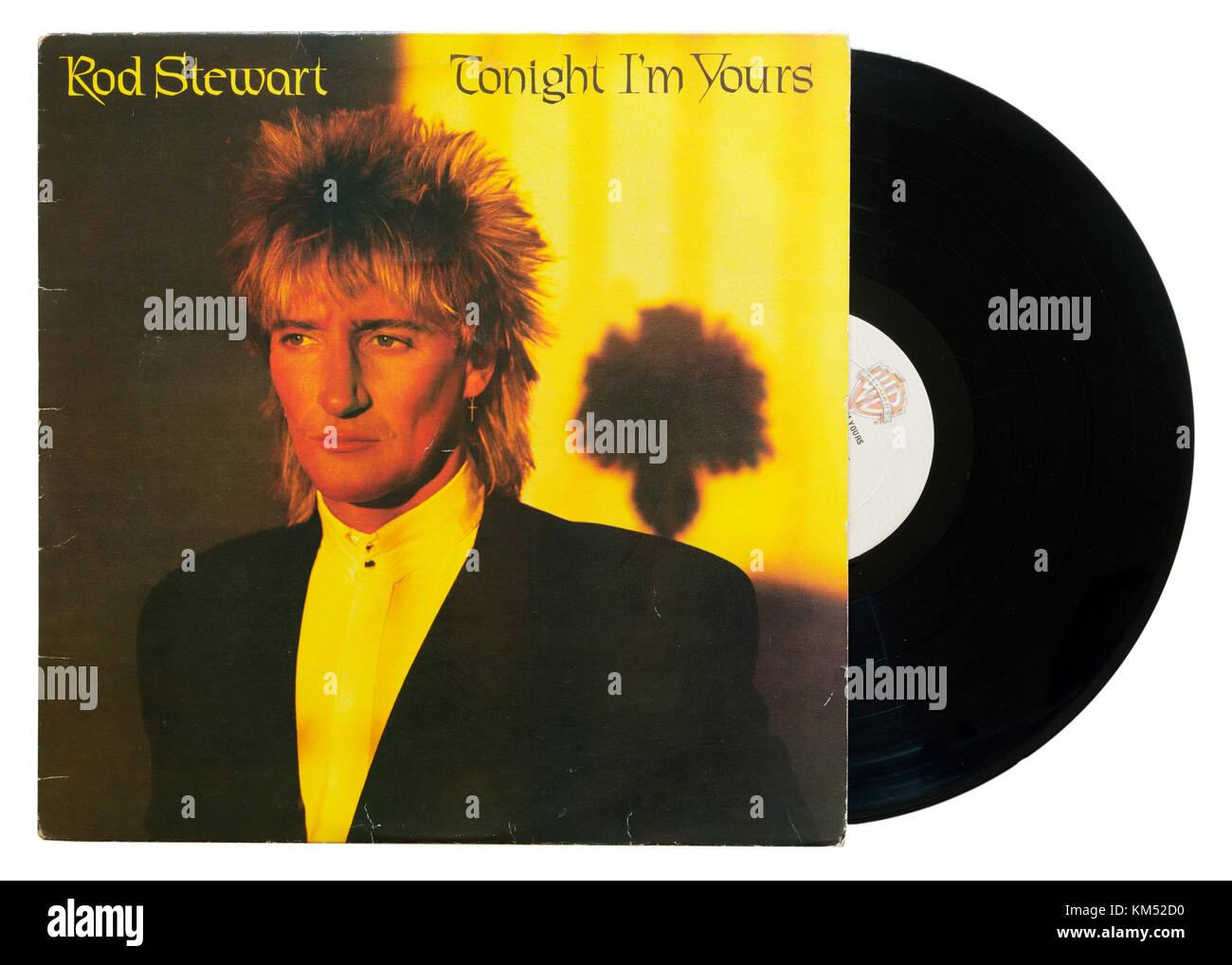 Rod Stewart Tonight I'm Yours album - Stock Image