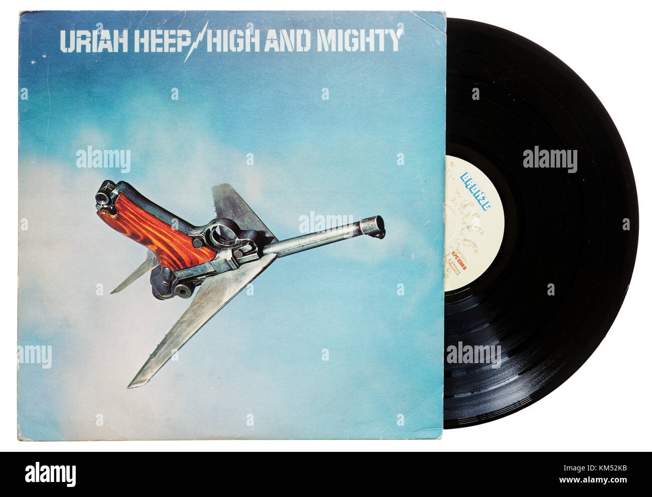 Uriah Heep High and Mighty album - Stock Image