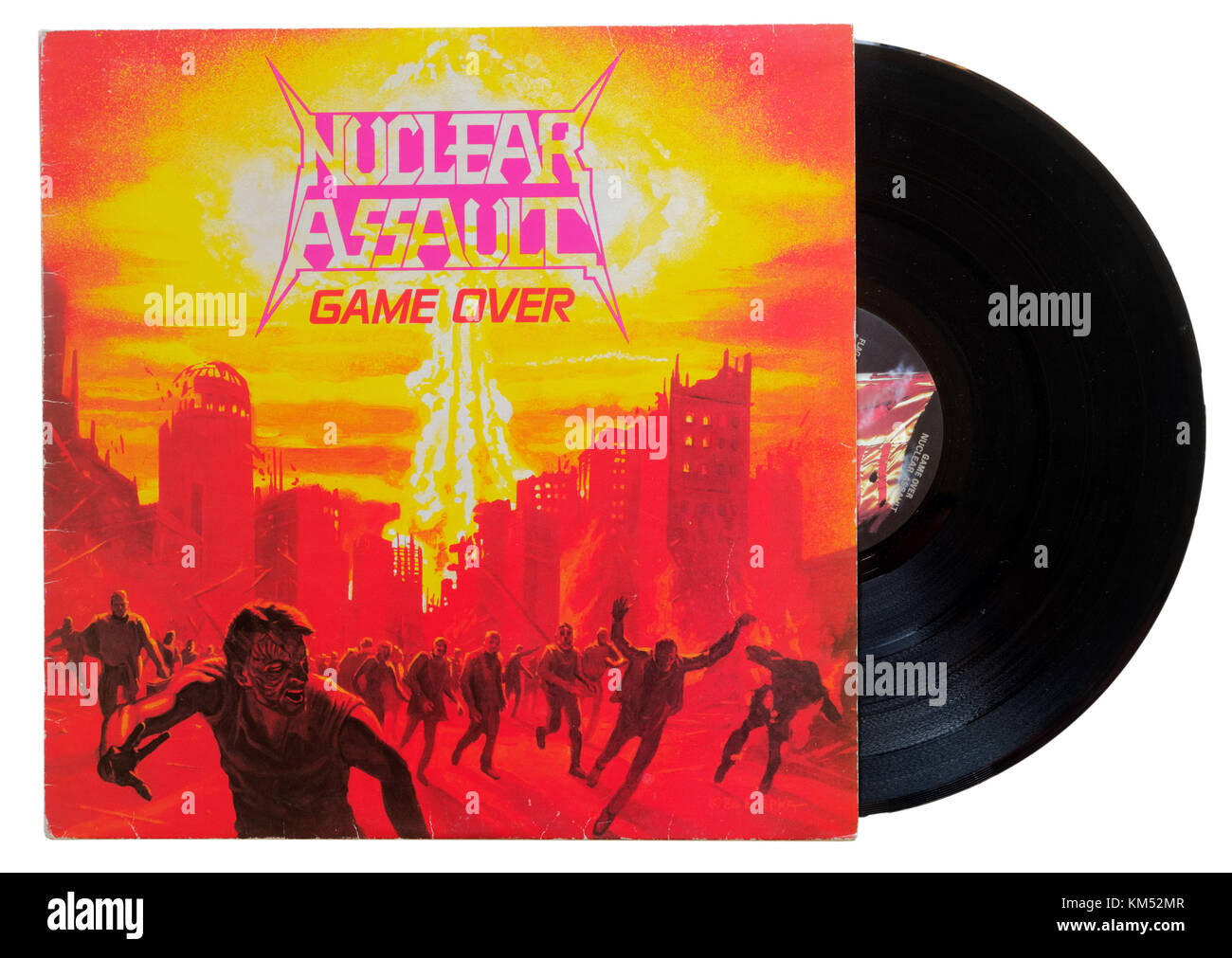 Nuclear Assault Game Over album - Stock Image
