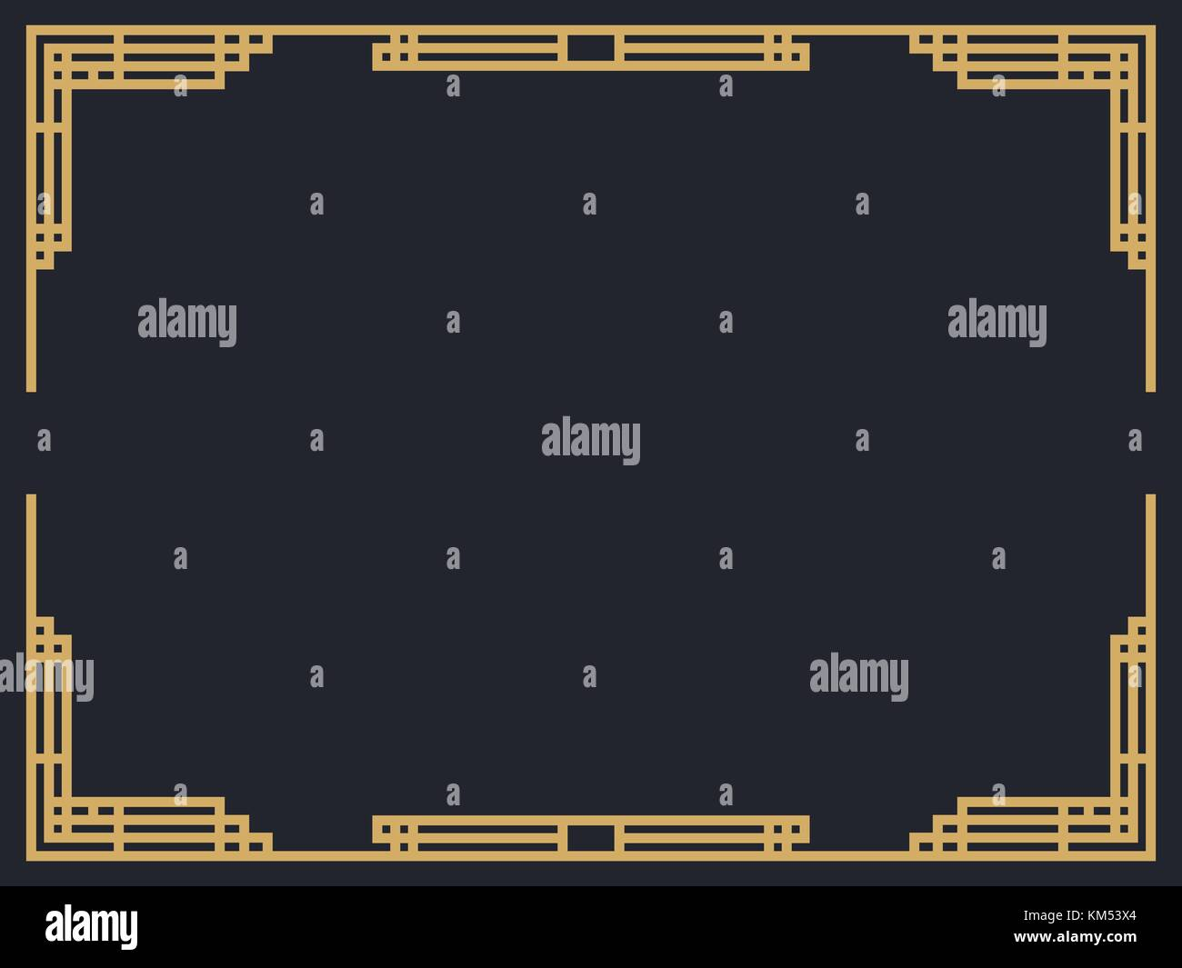 Great gatsby stock vector images alamy art deco frame vintage linear border design a template for invitations leaflets and stopboris Image collections