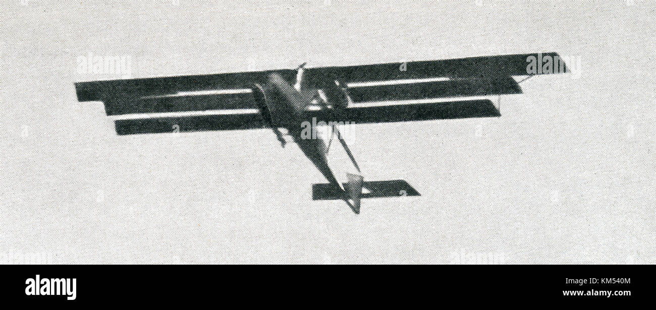 The caption that accompanied this photo dating to around 1916 read: A French triplane. It was in use during World - Stock Image