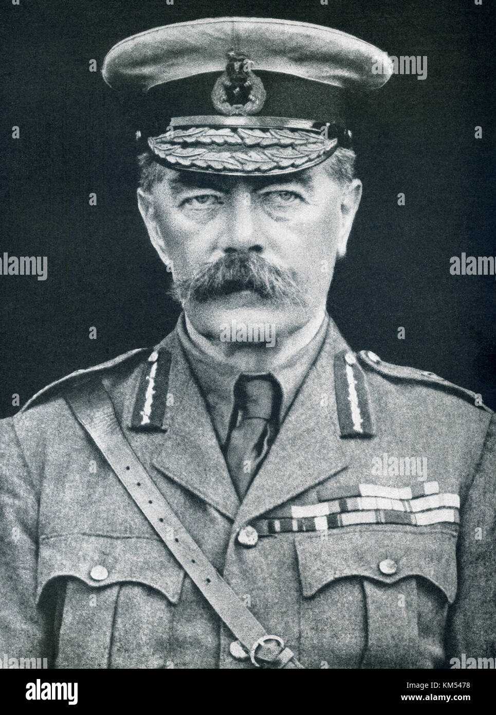 The caption of this photo that dates to before June 5, 2016, reads: England's strong man. Earl Kitchener, Secretary - Stock Image