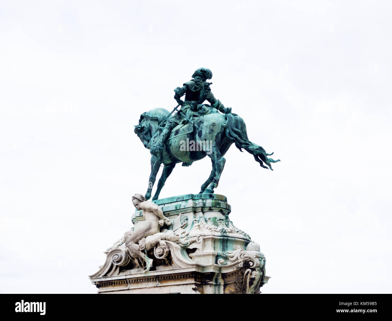 Monument of Prince Eugene of Savoy, Castle Hill, Budapest Stock Photo