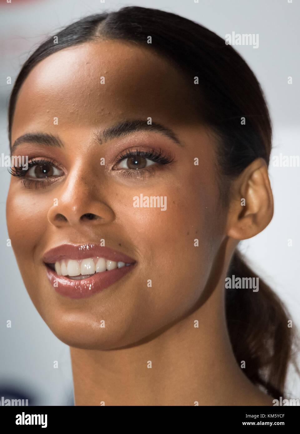 London, UK. 5th Dec, 2017. Singer and S Club 8 band member Rochelle Humes attends the annual ICAP Charity Day. Credit: - Stock Image
