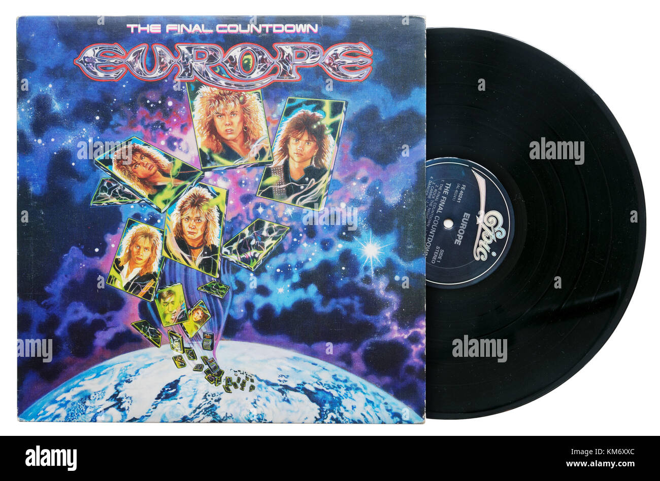 Europe The Final Countdown album - Stock Image
