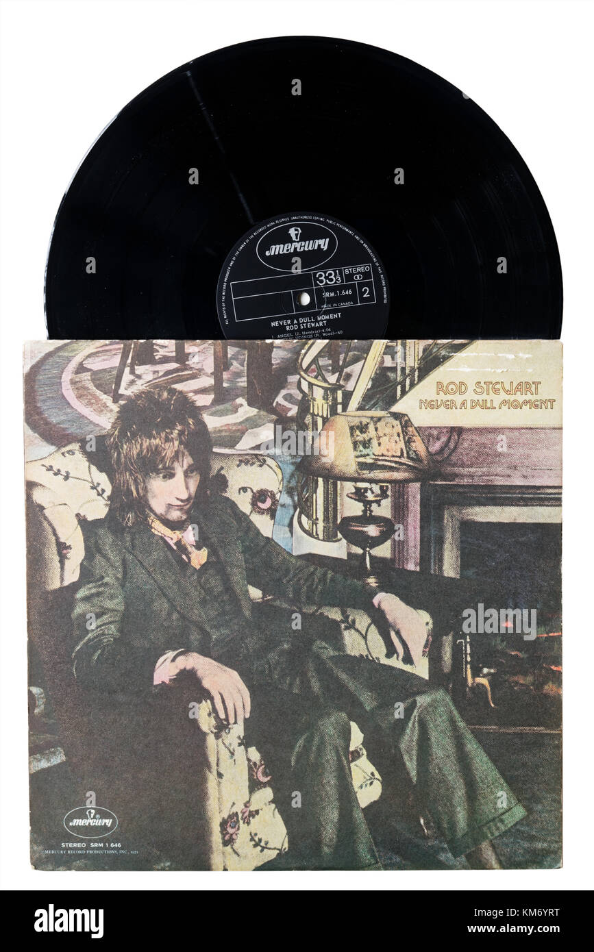 Rod Stewart Never a Dull Moment album - Stock Image