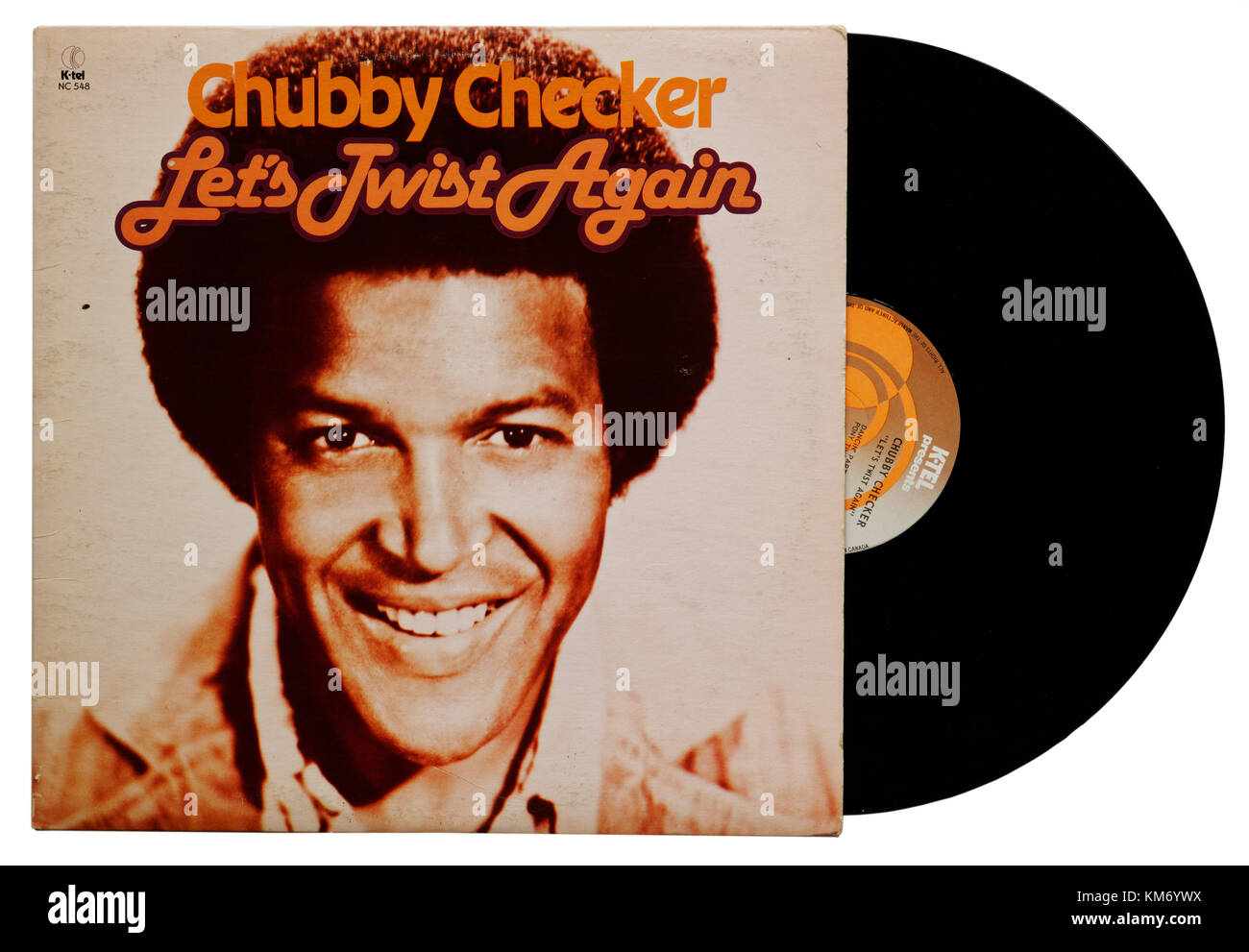 Chubby Checker Let's Twist Again album - Stock Image