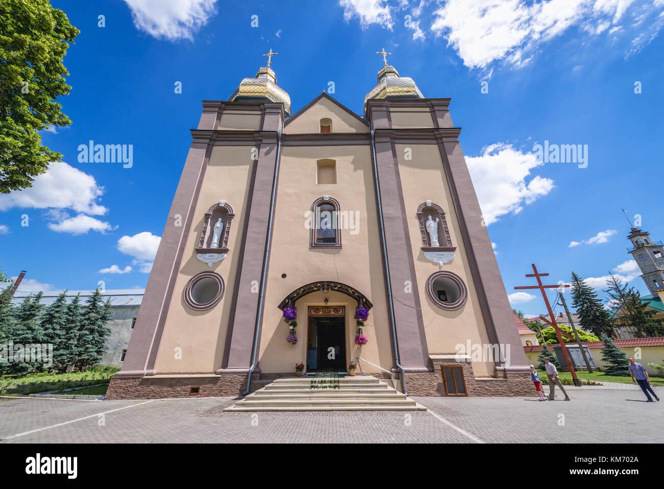 Exterior of Saint Volodymyr Church of Carmelite monastery in Stock