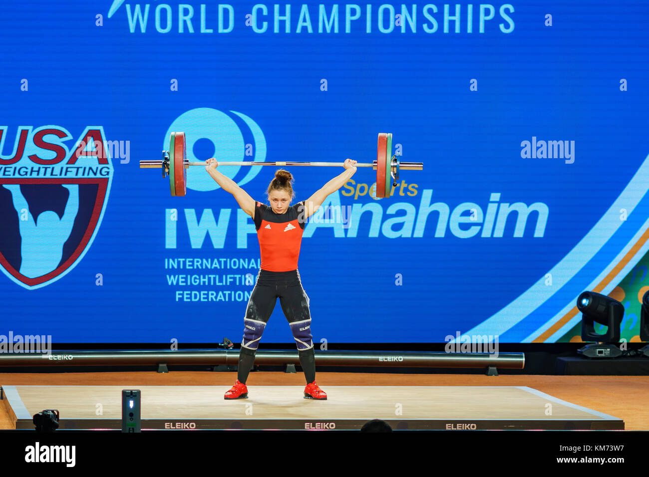 Anaheim, NOV 30: 2017 Koha Rebeka, Latvian in International Weightlifting Federation World Championships on NOV - Stock Image