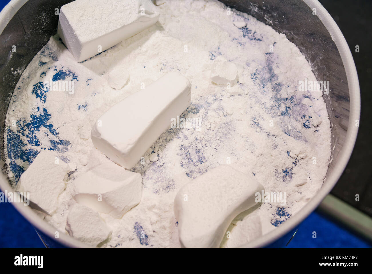 Anaheim, NOV 30: 2017 Magnesium powder of International Weightlifting Federation World Championships on NOV 30, - Stock Image