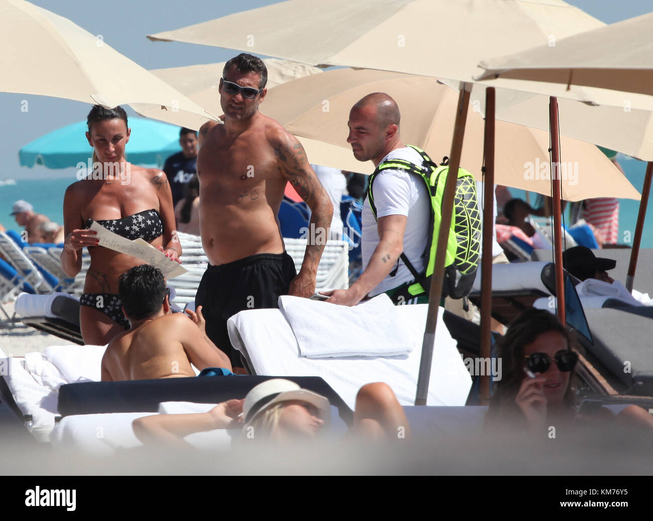 MIAMI BEACH, FL - MARCH 20: Retired Italian professional footballer Christian Vieri who played as a centre forward - Stock Image