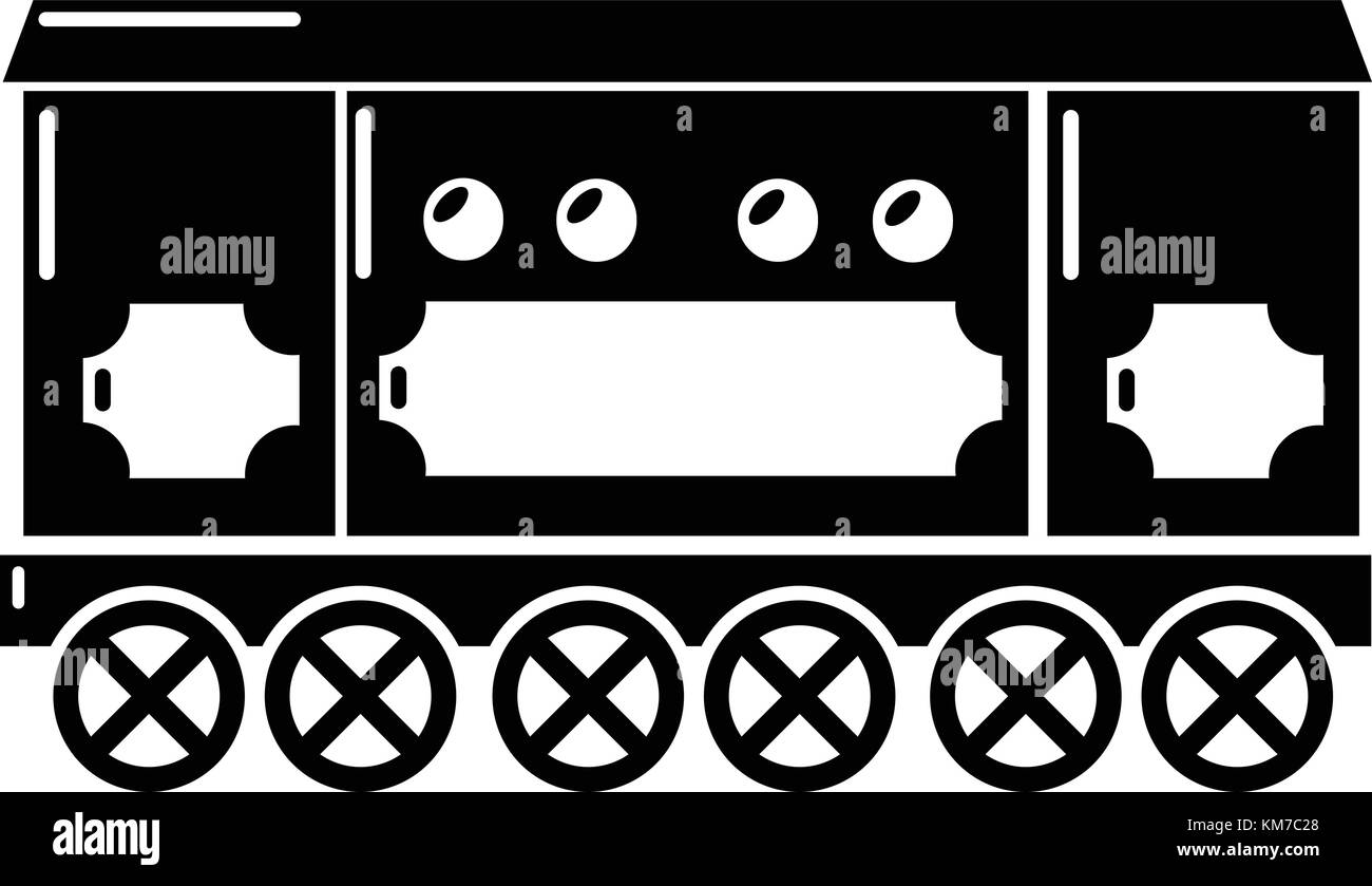 Compartment carriage icon, simple style Stock Vector