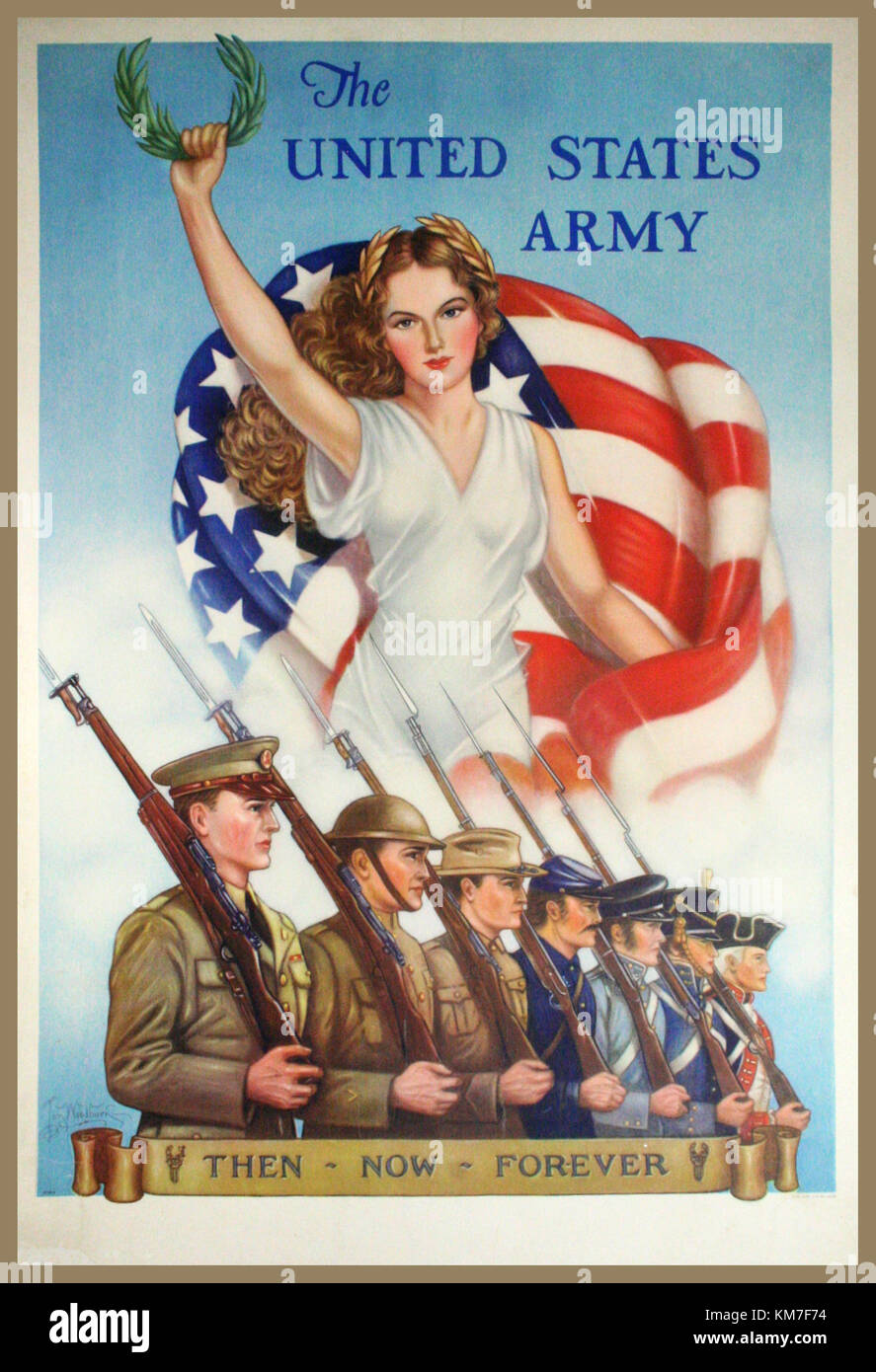 PROPAGANDA POSTER WW2 USA 1940's THEN-NOW-FOREVER, 1940. Vintage ...