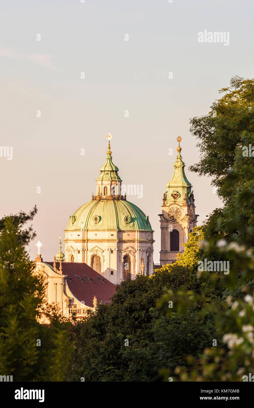 Tschechien, Prag, Kleinseite, Kirche St. Nikolaus - Stock Image